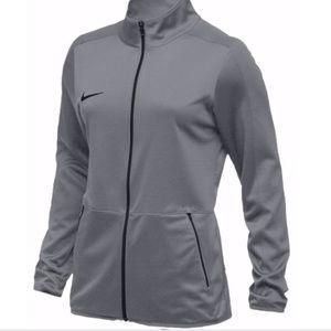 NIKE   Gray Rivalry Zip Up Warm Up Jacket NWT